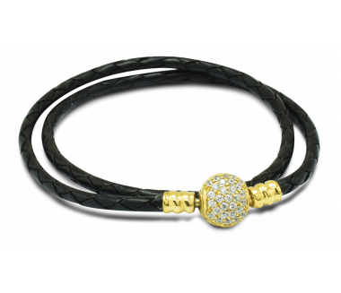 ENCHANTED LEATHER BRACELET (BLACK)