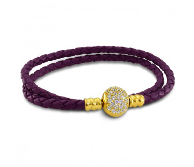 ENCHANTED LEATHER BRACELET (PURPLE)